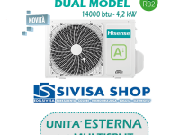 UNITA' ESTERNA Free Match HISENSE DUAL MODEL 14000 BTU 4,2 kW mod. 2AMW42U4RRA