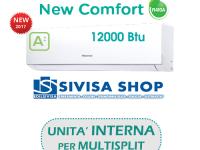 Climatizzatore HISENSE NEW COMFORT 12000 BTU cod.art. DJ35VE00G solo UNITA' INTERNA per MULTISPLIT