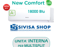 Climatizzatore HISENSE NEW COMFORT 18000 BTU cod.art. DJ50XA00G solo UNITA' INTERNA per MULTISPLIT