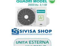 UNITA' ESTERNA Free Match HISENSE QUADRI MODEL 28000 BTU 8,1 kW mod. 4AMW81U4SAD1